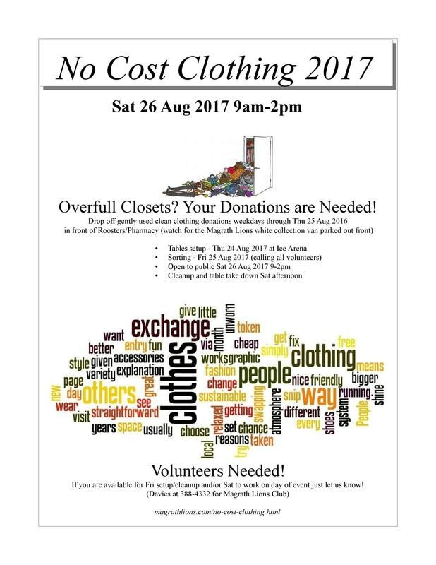 No Cost Clothing Poster